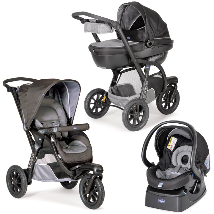 chicco 2016 stroller activ3 top travel system 3 in 1 grey. Black Bedroom Furniture Sets. Home Design Ideas
