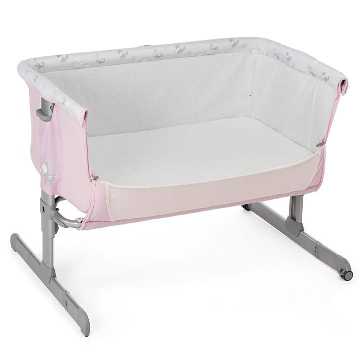 chicco 2017 side sleeping crib next2me princess baby crib next 2 me brand new ebay. Black Bedroom Furniture Sets. Home Design Ideas