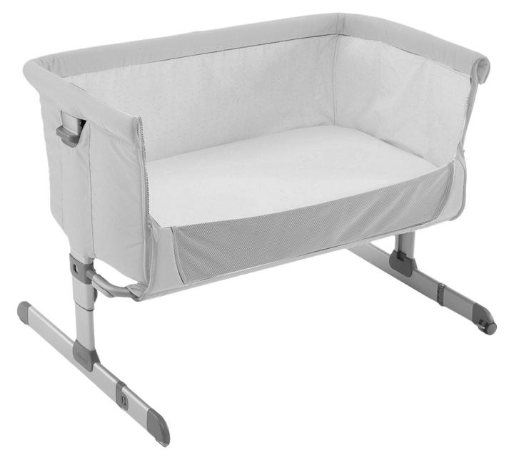 original chicco side sleeping crib next2me silver baby crib next 2 me co sleep ebay. Black Bedroom Furniture Sets. Home Design Ideas