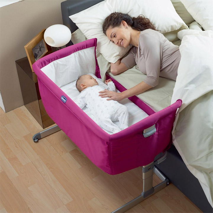 Baby bed extension co sleeper - Sleeping Crib Next2me Quot Circles Quot Baby Crib Next 2 Me Brand New Ebay