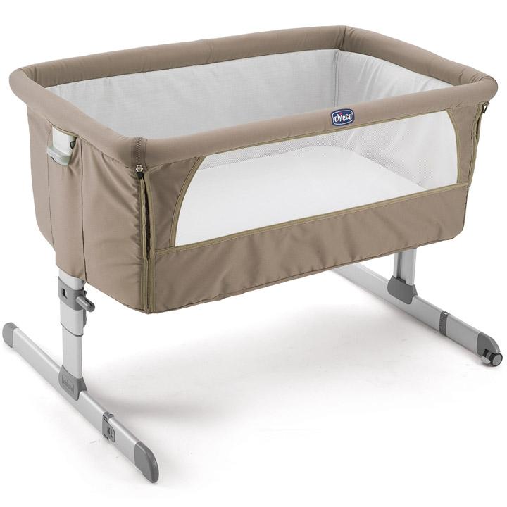 Chicco 2015 Side Sleeping Crib Next2me Dove Grey Baby