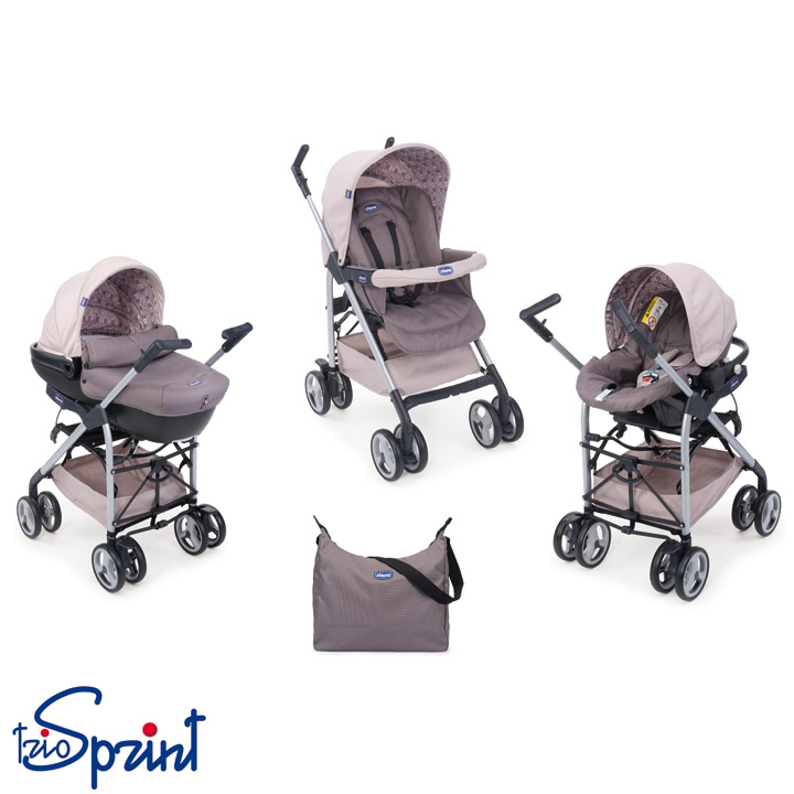 sale chicco travel system 3 in 1 kombi kinderwagen trio sprint design w hlbar ebay. Black Bedroom Furniture Sets. Home Design Ideas